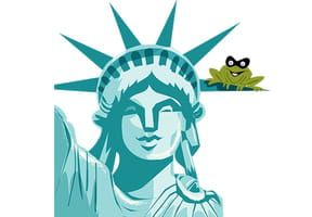 Une grenouille en plein New York