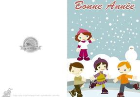 Carte enfants sur la glace