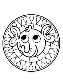 Mandala éléphant, pour les petits