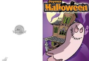 Carte de vœux Halloween fantôme