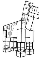 Coloriage Le cheval de Minecraft en Ligne Gratuit à imprimer