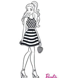 Coloriage Barbie sur Hugolescargot.com