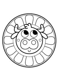 Coloriage Mandala Facile A Imprimer.Coloriage Mandala A Imprimer Sur Hugolescargot Com