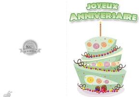 Carte anniversaire Gâteau rigolo