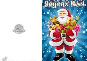 Carte Père Noël et cadeaux
