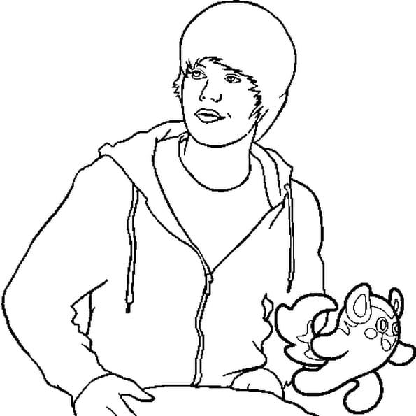 Dessin Bieber a colorier