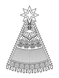 Mandala sapin de Noël stylisé