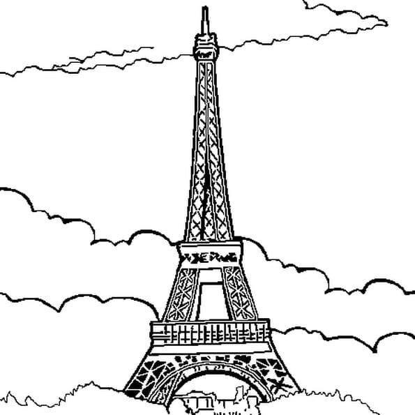 Coloriage La Tour Eiffel en Ligne Gratuit à imprimer