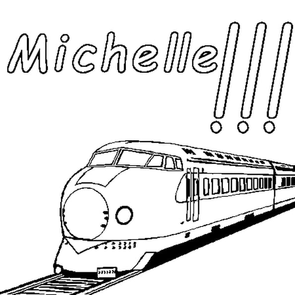 Dessin Michelle a colorier