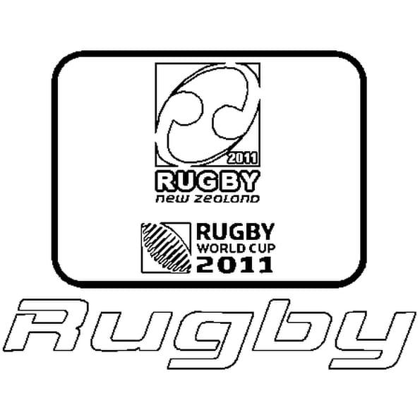 Dessin Coupe du Monde de Rugby 2011 a colorier