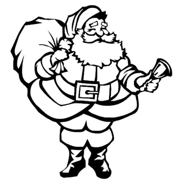 Coloriage Père Noël En Ligne Gratuit à Imprimer