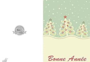 Carte trois sapins de Noël