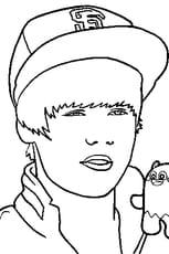 Coloriage Justin Bieber 2 en Ligne Gratuit à imprimer