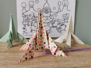 Votre fusée origami est terminée!