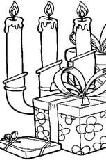 Coloriage Bougies de Noël en Ligne Gratuit à imprimer