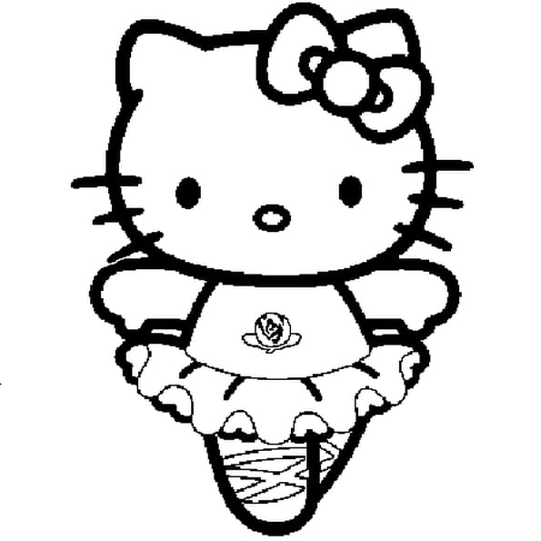 Coloriage hello kitty danseuse en ligne gratuit imprimer - Coloriage de hello kitty sur hugo l escargot ...