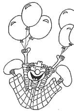 Coloriage Clown Volant en Ligne Gratuit à imprimer