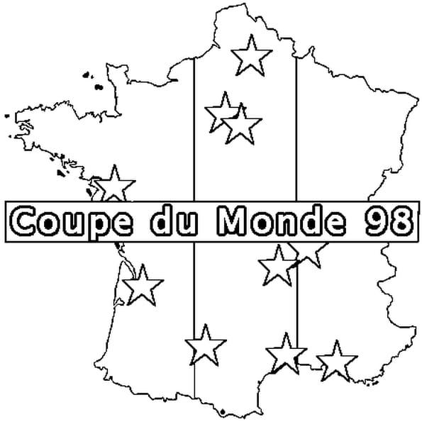 Dessin France 98 a colorier