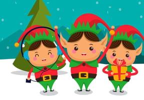 Coloriages les Lutins de Noël