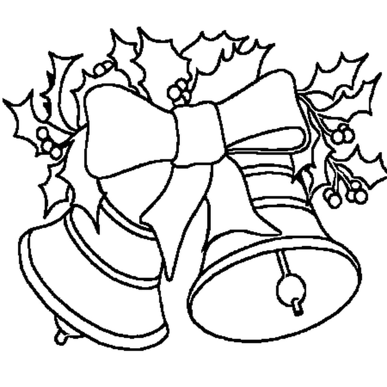 Coloriage Cloche de Noël en Ligne Gratuit à imprimer