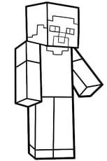 Coloriage Steve personnage de Minecraft