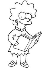 Coloriage lisa simpson