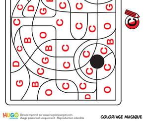 Coloriage magique CP, une automobile