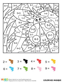 Coloriage Code Licorne.Coloriage Magique Addition Sur Hugolescargot Com