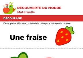 Découpage et collage d'une fraise