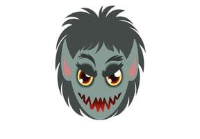 Masque de loup-garou pour Halloween