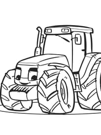 Coloriage tracteur sur - Coloriage tracteur avec remorque ...
