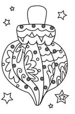 Coloriage boule de Noël torsadée