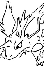 Coloriage Pokémon nidorino en Ligne Gratuit à imprimer