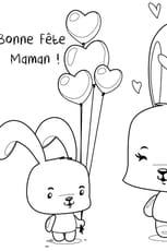 Coloriage Fête des Mères lapin