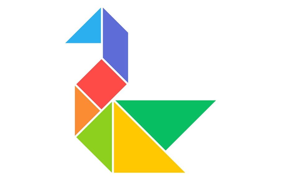 Le tangram niveau facile, un canard