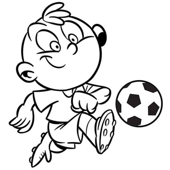 Dessin Activité enfant le football a colorier