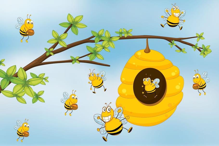 Comptine Les abeilles