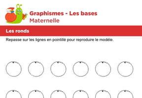 Les bases du graphisme, les ronds