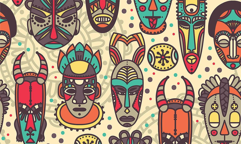 Coloriage Masques Africains Sur Hugolescargot Com