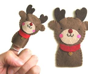 Marionnette de doigts, Rudolph le renne au nez rouge