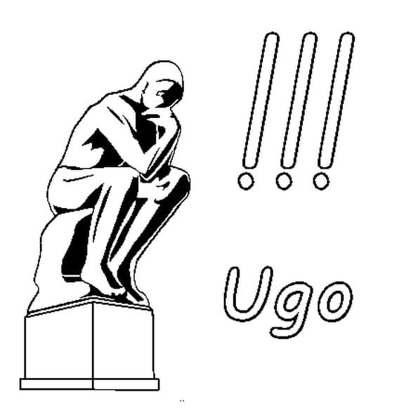 Dessin Ugo a colorier