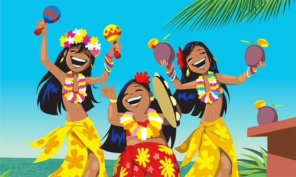 Danse Hawaïenne, le Hula