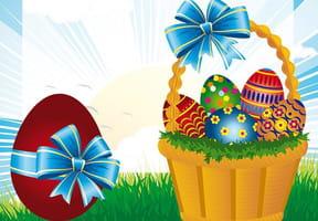 Carte œufs de Pâques en chocolat