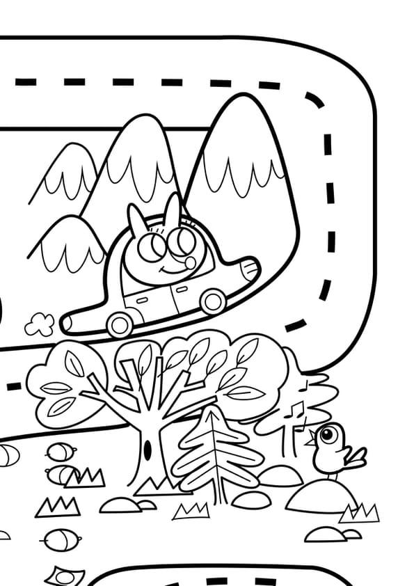 Coloriage Geant Animaux.Coloriage Geant Du Jeu De La Route Numero 4