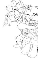 Coloriage Lapin manga