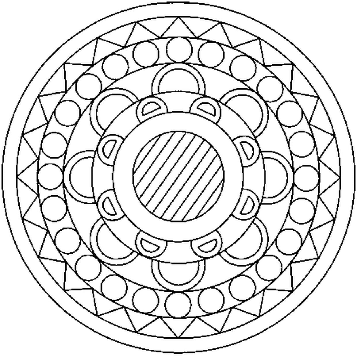 Coloriage Mandala En Ligne Gratuit A Imprimer