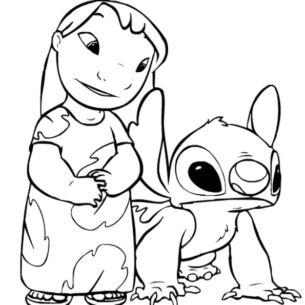 Lilo et stitch coloriage lilo et stitch en ligne gratuit - Dessin lilo et stitch ...
