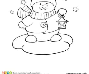 Le bonhomme de neige et la lanterne