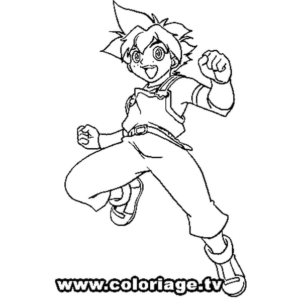 Dessin Beyblade Max a colorier