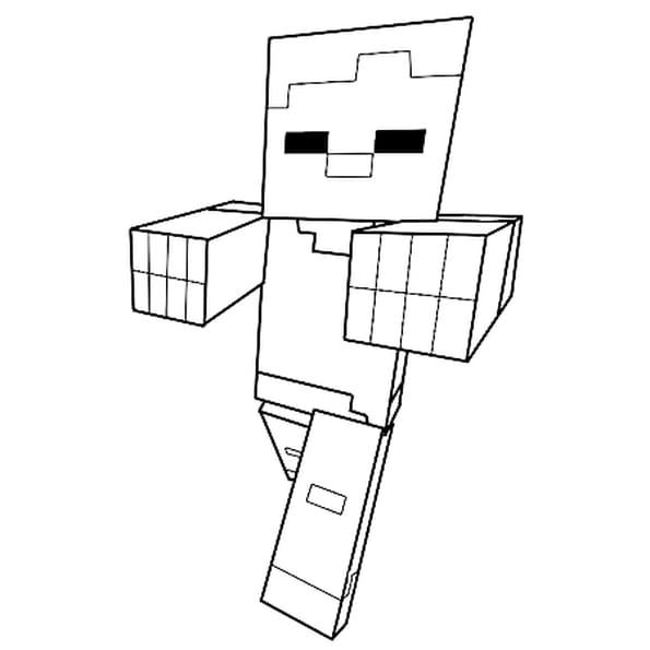 Coloriage Zombie de Minecraft en Ligne Gratuit à imprimer